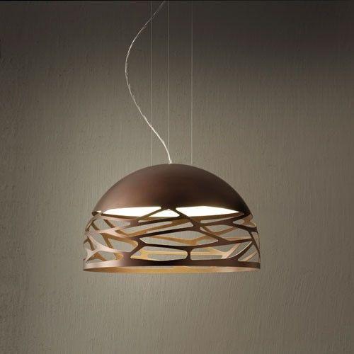 Studio Italia Design Kelly Small Dome 50 brąz Lampa Wisząca 50 cm   Lampy \ Lampy wewnętrzne \ Żyrandole