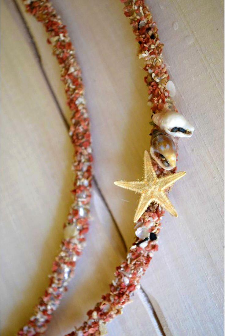 Χειροποίητα στέφανο γάμου από άμμο και κοχύλια -------------  Handmade marriage wreath made of sand and shells