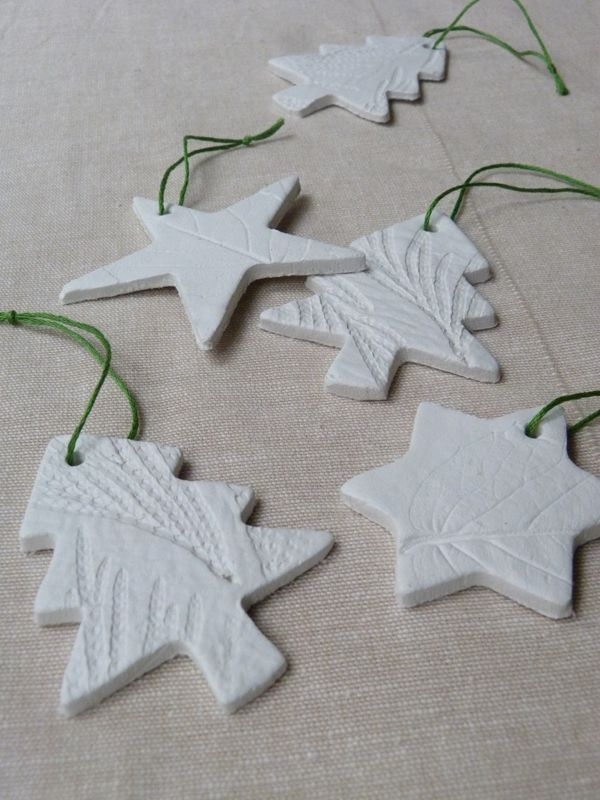 Leaf-embossed air-drying clay tree decorations « Growing Spaces - Make It} Leaf-embossed Air-drying Clay Tree Decorations Modeling