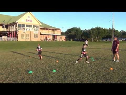 Rugby League Training - Gates (1 on 1 Tackle) - YouTube