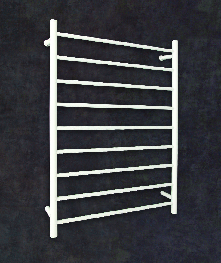 Thermorail Straight/Round White Heated Towel Rail. 9 Bars Output W 110. Order one now at $429.00. FREE Shipping Australia.