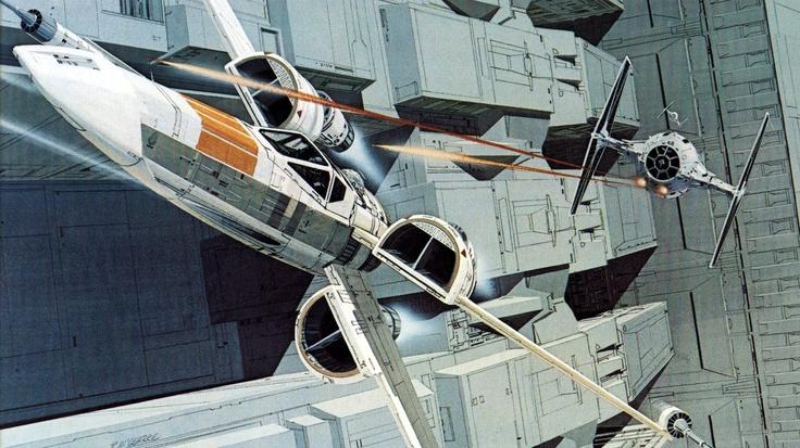 Illustration – Ungesehenes sichtbar machen, um es filmen zu können (Production Painting für »Star Wars« von Ralph McQuarrie)