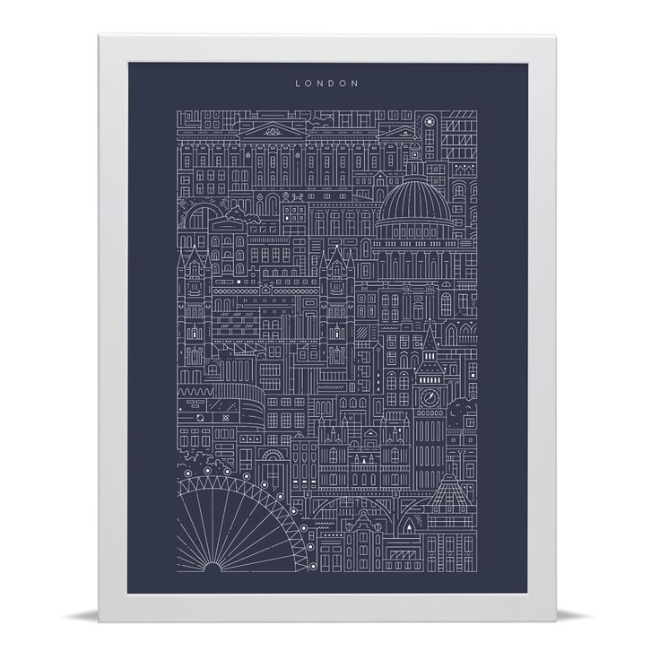 London Blueprint - Archival Art Print by The City Works.