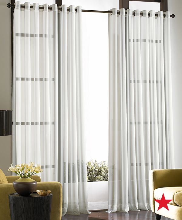 Sheer Soho Voile Grommet Window Treatment Collection In
