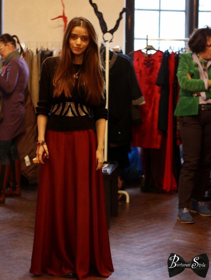 long skirt, boho