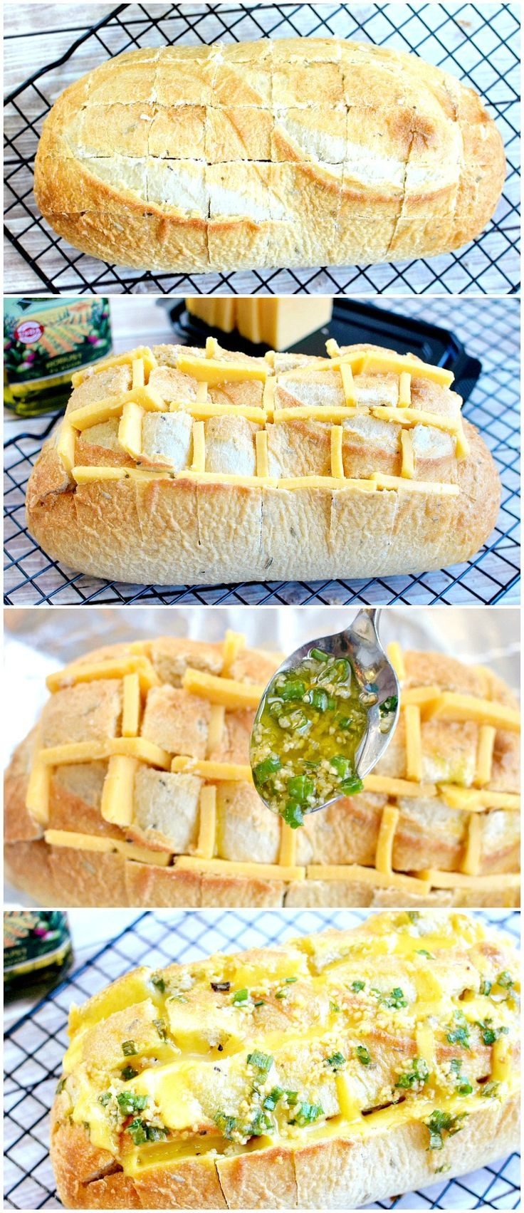 Gouda & Garlic Pull Apart Recipe (also known as Crack Bread!) — So easy to make & ridiculously delicious! Use your favorite cheese & herbs!
