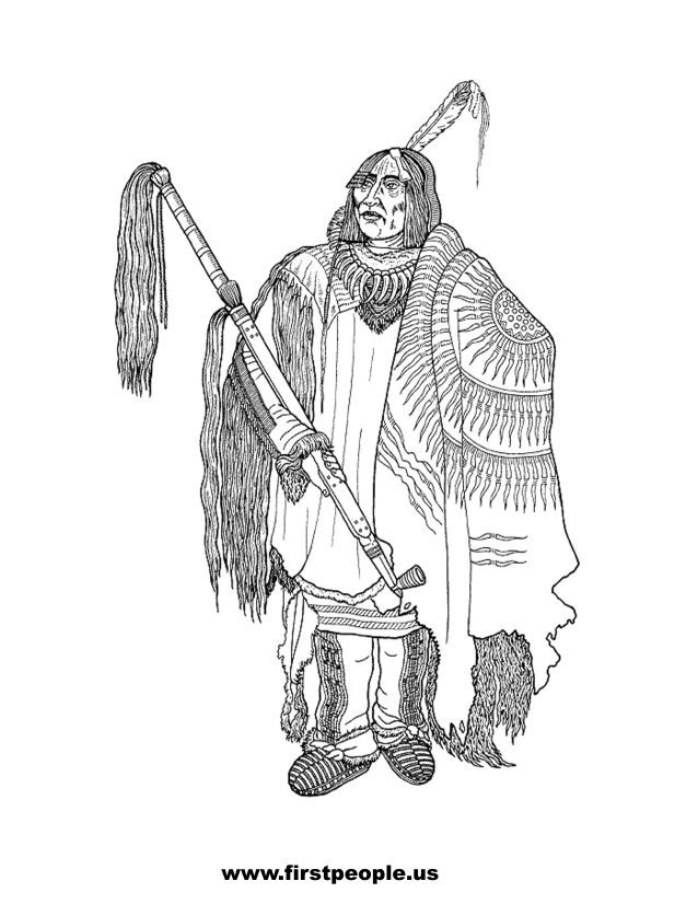 coloring pages indian chief - photo#28