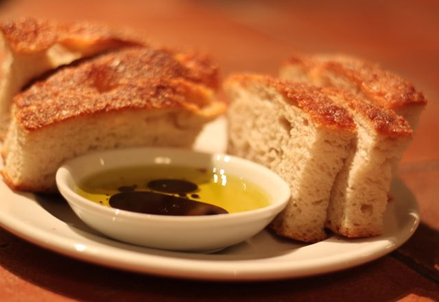 Pazzo's FAMOUS focaccia bread - many come JUST to eat this complimentary treat - www.pazzo.ca