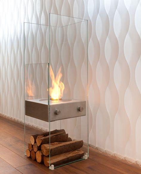 EcoSmart Ghost: inserire un camino in una casa non è impresa facile e poi fumo, fuliggine, ecc. Lasciate che i ceppi di legno siano solo una decorazione elegante del vostro camino.