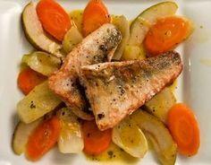Kross gebratener Zander auf Fenchel-Karotten-Birnen-Gemüse | Geschmacks-Sinn