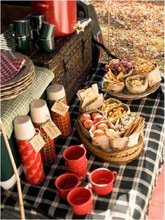 Fall tailgating picnic… Perfect for September games! @thedailybasics♥♥♥