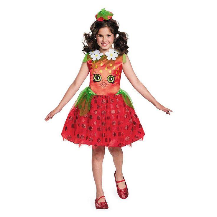 Girls Shopkins Strawberry Kiss Costume, Size: Medium, Multicolor