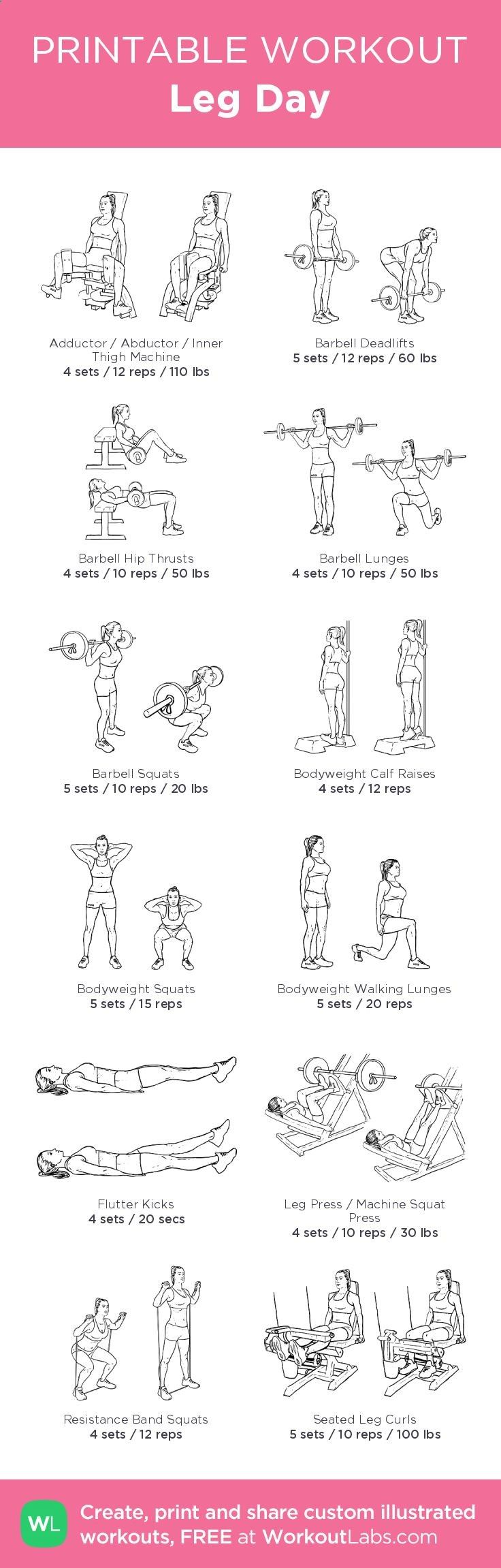muscle gain workout routine pdf