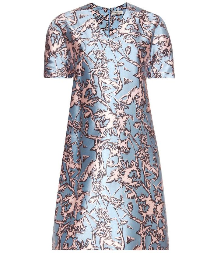 Balenciaga - Printed silk-blend dress - The silk-blend material has a slightly lustrous surface for an elevated look from all angles. Wear this piece alongside a chic box clutch in the evening. - @ www.mytheresa.com