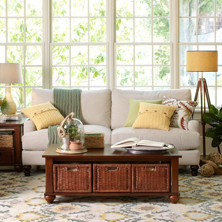 704 best images about Pottery Barn Living Family Rooms on Pinterest