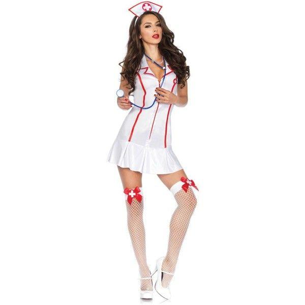 Head Nurse Adult Ladies Costume ($38) ❤ liked on Polyvore featuring costumes, halloween costumes, multicolor, sexy nurse halloween costume, womens costumes, womens snow white costume, sexy adult halloween costumes and sexy adult costumes
