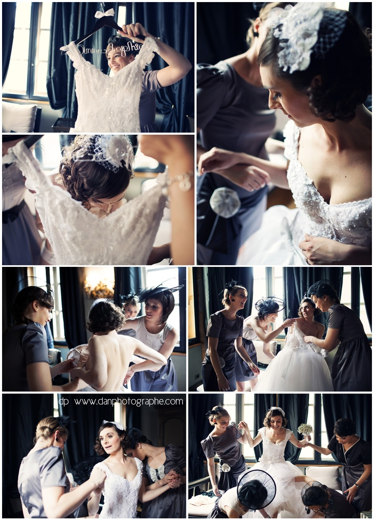 Cour des Loges, Lyon // La robe de la mariée - The Bride and her dress         http://en.maisons-hotels-sibuet.com/1168-weddings.htm DanPhotographe