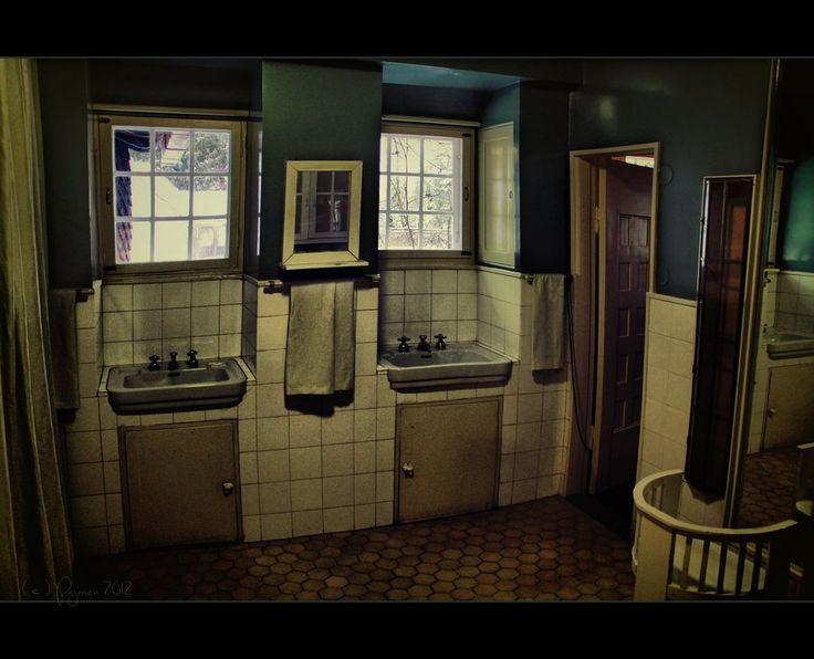 Old bathroom by Pajunen on deviantART Villa Hvittrask, Finland (built between 1901-1903)