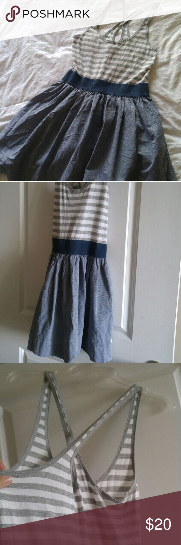 Abercrombie and Fitch Dress Fun, comfy and flirty dress for spring and summer with criss cross back and skirt with lining that gives it a little lift Abercrombie & Fitch Dresses Mini