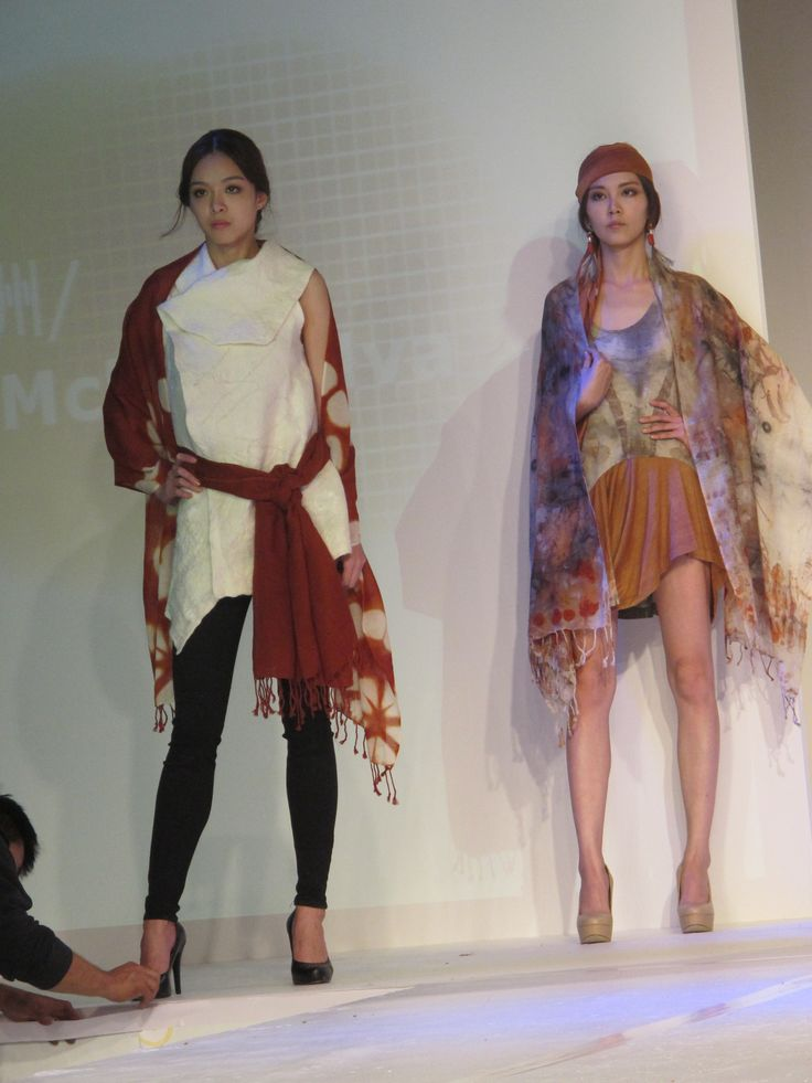 Gondwana Textiles on show at the International Designers invitational fashion show international Forum of Natural Dyes and WEFT Taipei Oct 2014