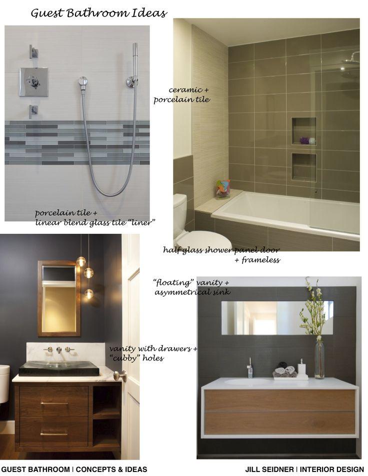 Redondo Beach Condo Bathroom Remodel Ideas Concept Board