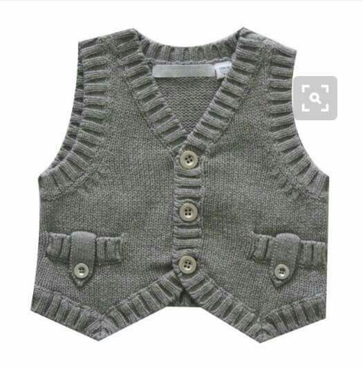 boy's vest with ribbing detail