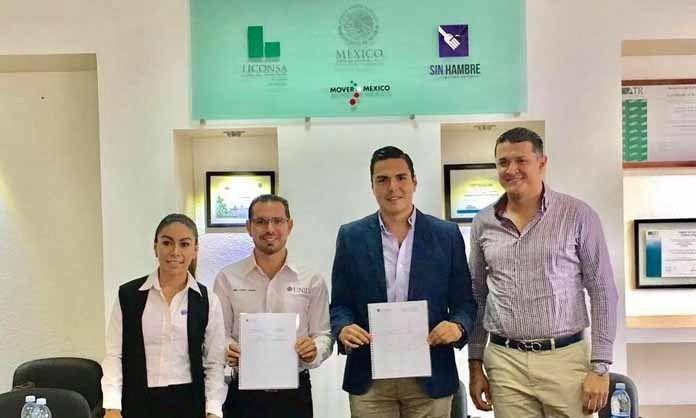 SIGNAN LICONSA Y UNID CONVENIO DE COLABORACIÓN