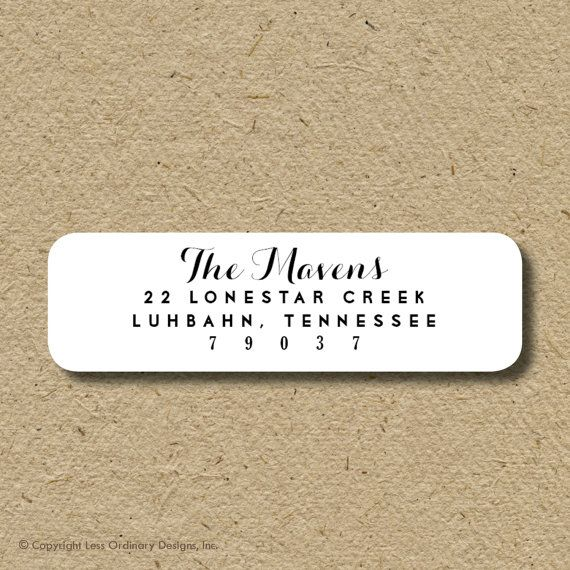 Custom return address labels selfadhesive  in by saralukecreative, $19.50