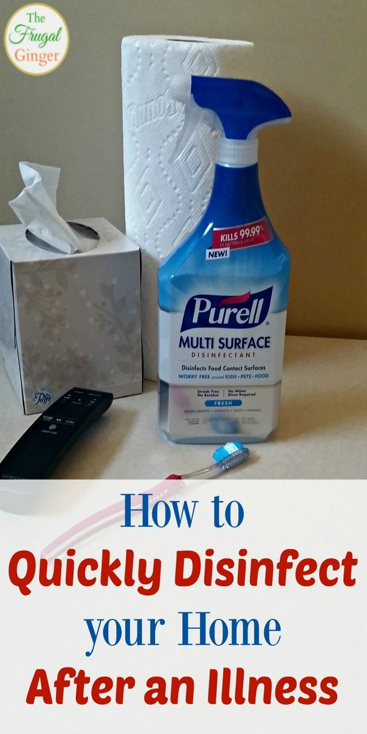 How To Quickly Disinfect Your Home After An Illness Cleaning