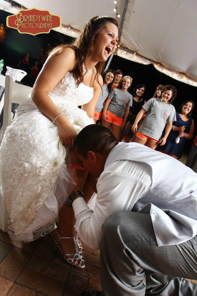 Garter Toss Duncan Estate Wedding