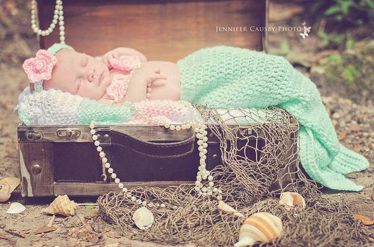 Newborn Mermaid Session