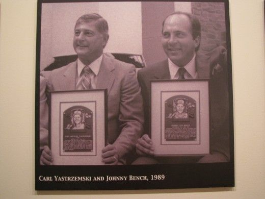Image result for bench and yaz hall of fame images