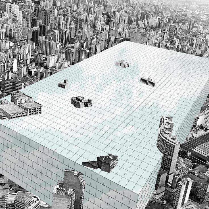 "Art and Architecture: ""Superstudio Revisited"" by Nitsche Architects + Jorn Konijn, Photomontage © Nitsche Architecture"