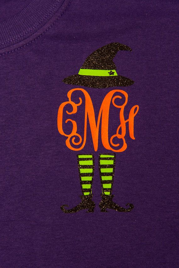 Monogram Sassy Witch T-shirt. Perfect for Fall and Halloween