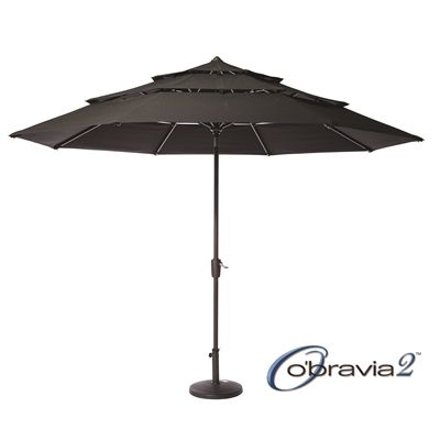 Simply Shade 11-ft 3-Tiered Deluxe Tilt Umbrella