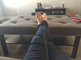 Home with Carissa: Ikea Lack to Tufted Ottoman HACK