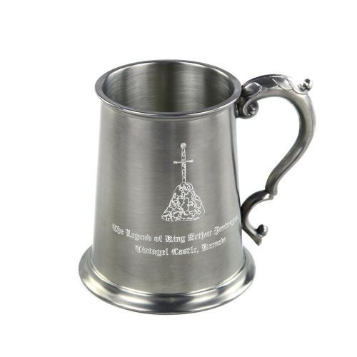 Buy From our range of Tintagel themed gifts, the King Arthur Pewter Tankard is available from English Heritage online. Matching Pewter Charger also available.  International and Next Day Delivery Available.