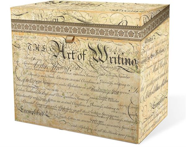Punch Studio File Box Calligraphy Price Available