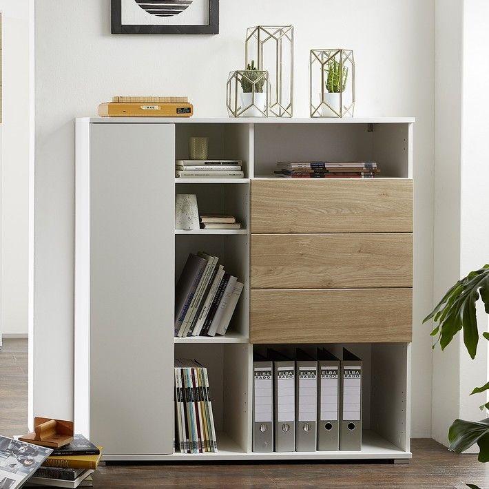 Armoire De Bureau Blanche Design Bois Pour Une Decoration Scandinave Meuble Rangement Bureau Meuble Rangement Rangement Classeurs