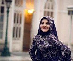 hijab wedding purple different