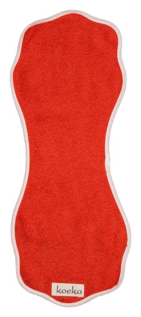 Koeka spuugdoekje uit de Rome-serie van Koeka in de kleur rood, uit de online shop van Babyaccessoires.eu.