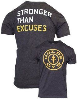 Golds Gym T-shirt Stronger Than Excuses Grau