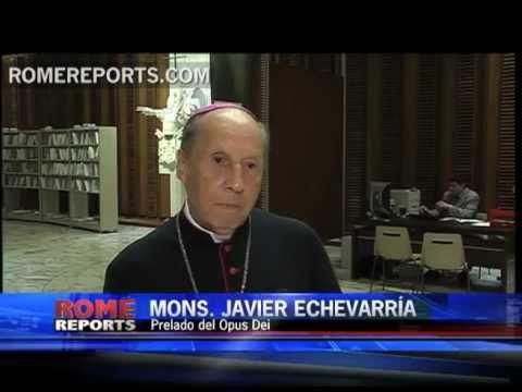 """El Prelado del Opus Dei propone """"hablar de Dios con alegría"""" en el Año de la Fe.  La agencia de noticias Rome Reports ha entrevistado a Mons. Javier Echevarría con motivo del Año de la Fe."""