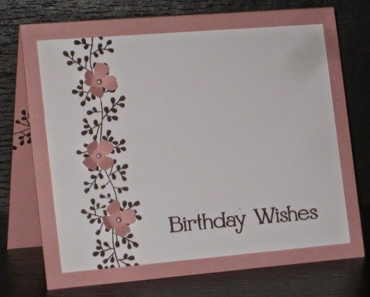 This card uses Bordering Blooms and the Four you stamp sets from Stampin' Up!. Ink-credible Possibilities