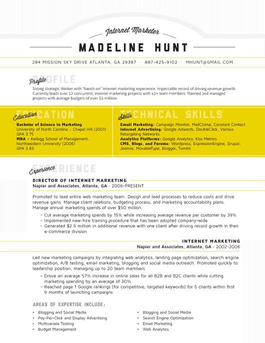 Contemporary Resume purple modern cv sample The Market Square In Yellow 99