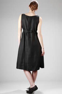 calf-length dress in hemp canvas - A PUNTO B