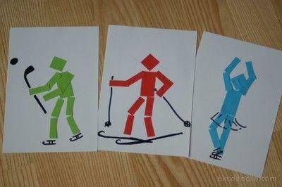 Zimní sporty olympiáda plast práce