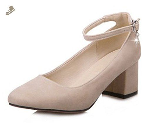 Chic Metal Buckled Square Toe Low Heel Pumps - APRICOT Get Authentic Online Cheap Outlet Store Discount New Styles Real KdmGtdh