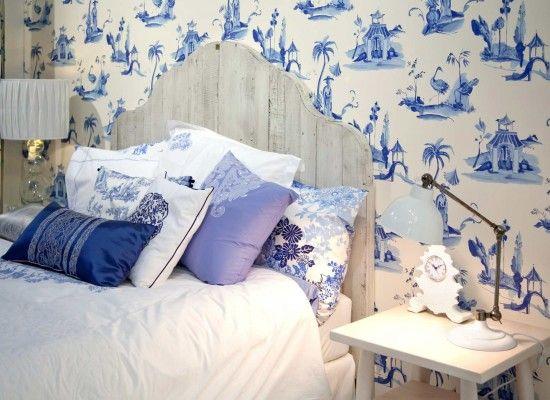 Moderní ložnice s etno motivy