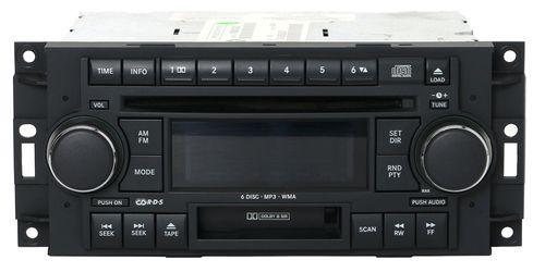 2004-2010 Dodge Chrysler AM FM Radio mp3 6 Disc CD Cass. PN P050664032AL - RAK